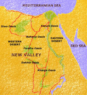 Egyptvoyagercom Map Of The Western Desert Oasis In Egypt - Map of egypt oasis